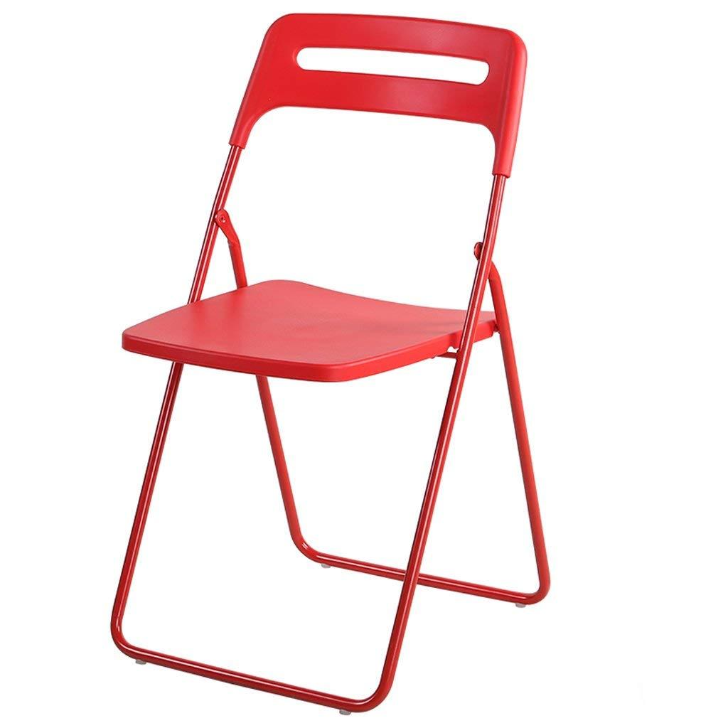 mejor servicio Folding Chair Home Silla nórdica Silla de Comedor Comedor Comedor para Adultos Taburete de plástico para Estudiantes Silla Minimalista Moderna para el hogar Silla Taburete de Bar (Color  Rojo)  hasta 60% de descuento