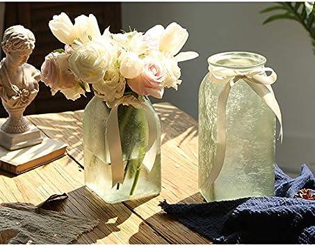 AFQHJ Vase en verre hydroponique plante vase d/écoration vase vase vase en verre /épaissi givr/é effet bleu violet vase Verre violet 10.5/×18.5cm