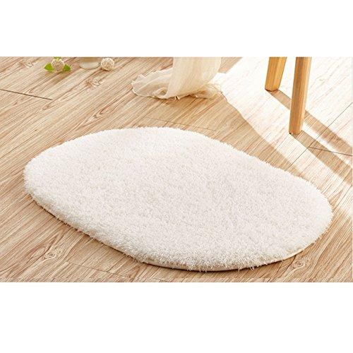 40cm x 60cm Anti-Slip Soft Floor Rug Carpet Bathroom Bedroom Bath Shower Mat (White) - 4
