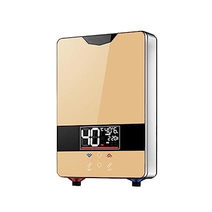 220V, 6000W, calentador de agua eléctrico instantáneo termostático, termostato inteligente, ahorro de