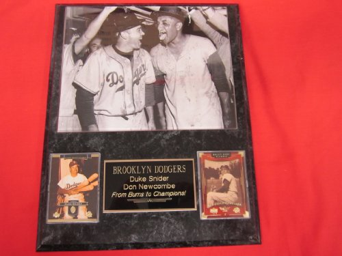 - Duke Snider Don Newcombe 1955 Brooklyn Dodgers 2 Card Collector Plaque w/8x10 RARE Photo