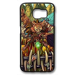 iCustomonline Crazy Creature Back Cover Case For Samsung Galaxy S6 Black