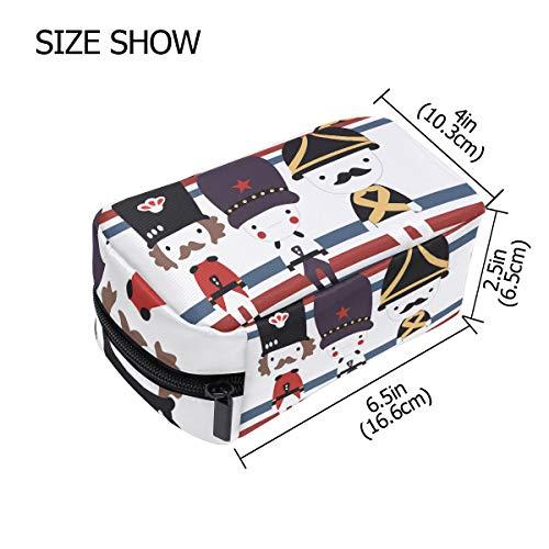 DEZIRO Cartoon British Soldier make up pouch for women