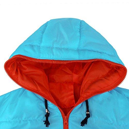 Manadlian Sobretodo capucha azul de capucha Delgado Anorak Hombres Chaquetas Abrigo hombre Casual invierno Una con grueso abrigada chaqueta con 8EZnwgURq