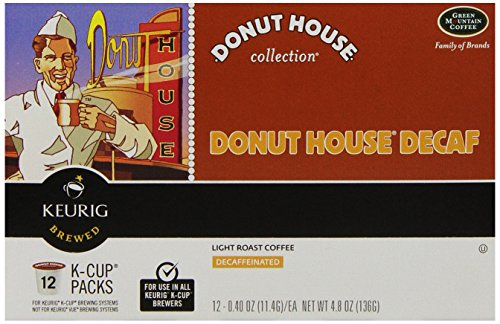 Donut House Coffee, Light Roast Decaf, K-Cup Portion Pack for Keurig K-Cup Brewers, 12-Count (Pack of 3)