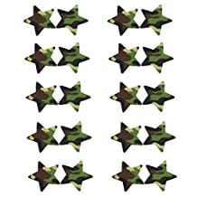 20pcs Women Adhesive Nipple Cover Disposable Lingerie Pasties Star (camouflage)