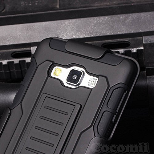 Galaxy A3 Case, Cocomii Robot Armor NEW [Heavy Duty] Premium Belt Clip Holster Kickstand Shockproof Hard Bumper Shell [Military Defender] Full Body Dual Layer Rugged Cover Samsung (Black) Photo #6