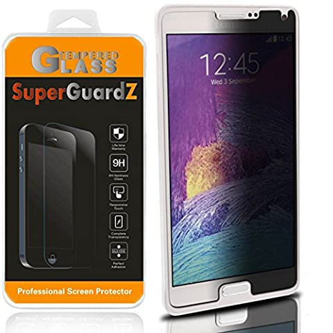 For Samsuung Galaxy Note 4 - SuperGuardZ Privacy Anti-Spy Tempered Glass Screen Protector, 9H Anti-Scratch, 2.5D Round Edge, Anti-Bubble [Lifetime (Glass Privacy Screen For Note 4)