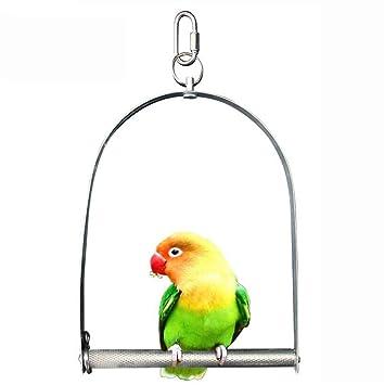 WYXIN Columpios de pájaros, juguetes Budgie de acero inoxidable ...