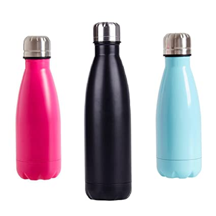 098a9f5386 Amazon.com : SHAREWIN Stainless Steel Travel Water Bottle Thermos Vacuum  Insulated Water Bottle, Leak Proof Cold Double Walled Cola Shape : Sports &  ...