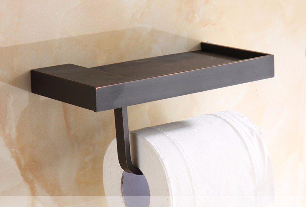 HYP-Full copper paper towel rack Antique waterproof bathroom, black bronze
