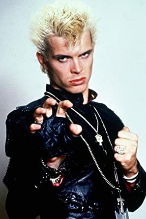 BILLY IDOL IN BLACK LEATHER COLOR 24X36 POSTER PRINT