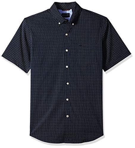 [해외]Dockers Men`s Short Sleeve Button Down Comfort Flex Shirt / Dockers Men`s Short Sleeve Button Down Comfort Flex Shirt, Pembroke Print, Large