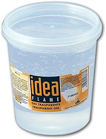 idea FLAME 透明ジェルキャンドル 蓋付きポリ容器入 1L 透明パラフィン