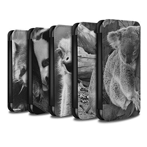 Stuff4 Coque/Etui/Housse Cuir PU Case/Cover pour Apple iPhone 8 / Multipack Mignon Design / Animaux de zoo Collection