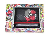 Marvel Comics Spider-Man Mens Leather Bi-Fold Wallet With Gift Box