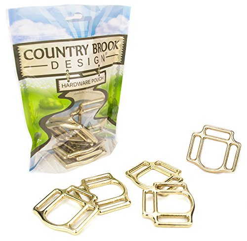 - 2 - Country Brook Design | 1 Inch Solid Brass 3-Sided Horse Halter Squares
