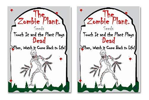 (Zombie Plant Seed Packets (2) Grow Your Real Live Zombie Plant. Watch it