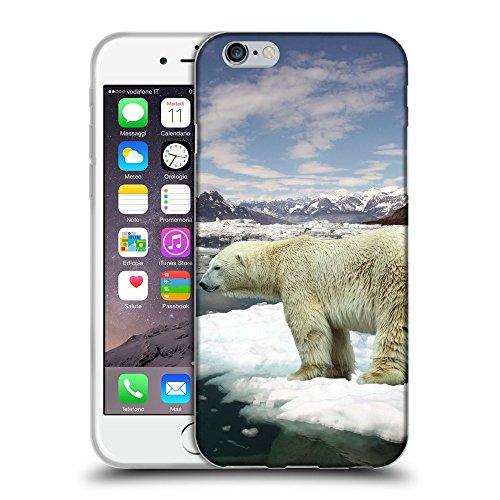 """Just Phone Cases Coque de Protection TPU Silicone Case pour // V00004113 L'ours polaire se penche sur l'eau // Apple iPhone 6 6S 6G PLUS 5.5"""""""