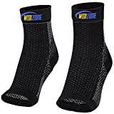 Plantar Fasciitis Sock by Winzone, 2 Socks Pack Heel & Ankle Pain Treatment, Best Arch Support Relieve Pain Fast! Perfect Men Or Women, Compression Sleeves That Brace & Support, Lifetime Warranty