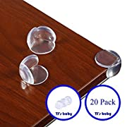 Premium Quality Clear Corner Protectors - High Resistance Adhesive Gel Corner Caps - Table, Furniture, and Sharp Corner Baby Proofing Corner Bumpers Safety Kit - 20 Pack