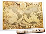Anchient History World Scratch Off map 16.5 x 24 inches Hemisphere Timeline Map Showing The Ancient Early World Wall Map by Mymap Premium Package Gift Glossy and Gold
