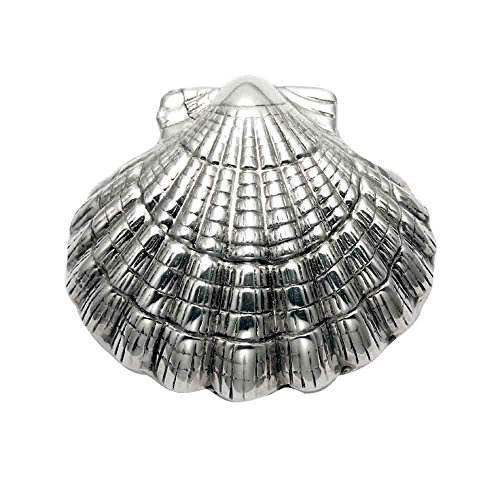 Wild Things Sterling Silver Scallop Shell Pill Box, used for sale  Delivered anywhere in USA