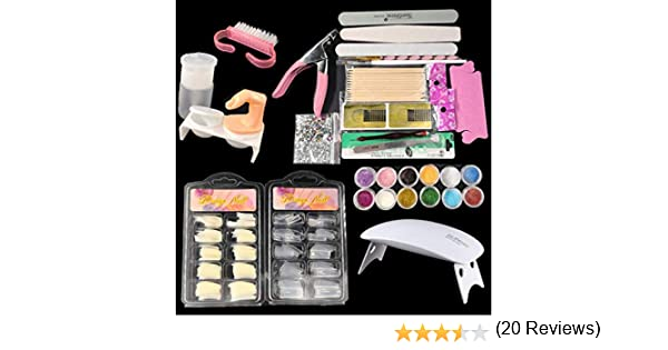 QUICKLYLY Uñas/Manicura-Pro 23 en 1 Simply Nail Art Kits Consejos ...