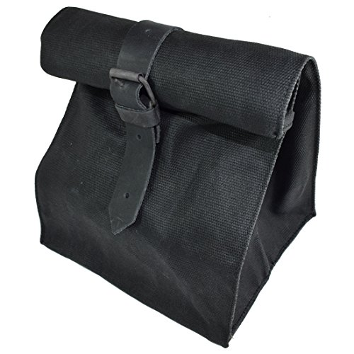 Waxed Canvas All Purpose Cord & Tool Bag Handmade by Hide & Drink :: Charcoal Black