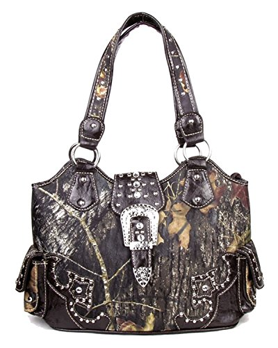 - GoCowgirl Western Concealed Carry Weapon Purse Camouflage Camo Belt Buckle Handbag Coffee Large