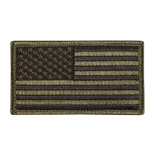 Rothco US Flag Patch with Hook Back, Olive (Daves Olives)