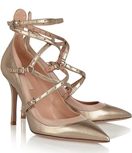 TDA - Sandalias romanas mujer dorado