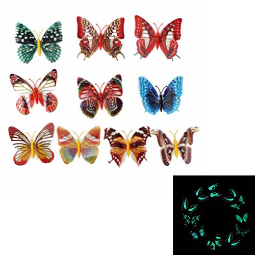 10-pcs-colorful-3d-luminous-butterfly-with-pin-home-decor