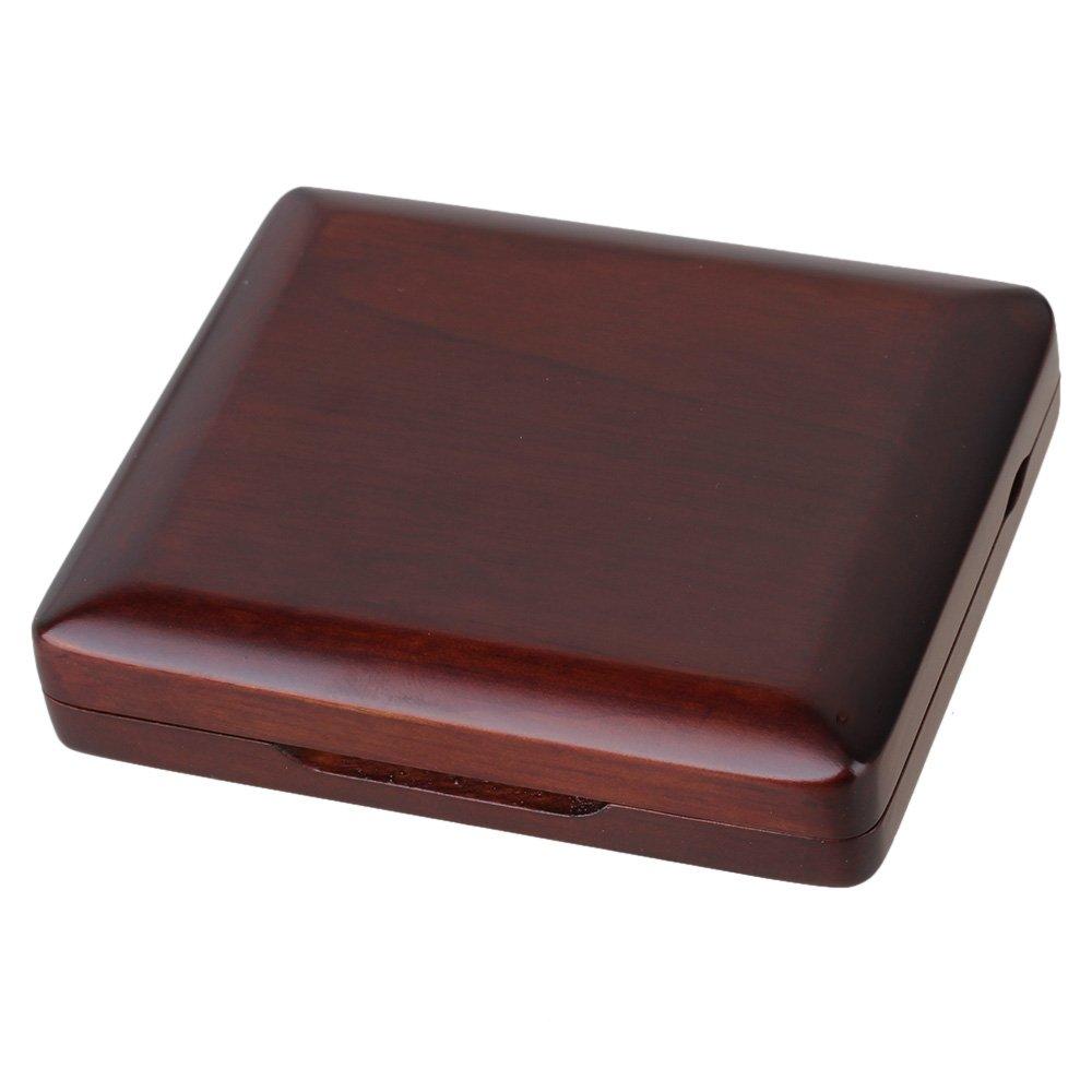 Yibuy Beautiful Maroon Handmade Wooden Bassoon Reeds Case Box Protector Holds 3pcs Reeds etfshop Yibuy59