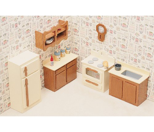 Greenleaf Dollhouse Furniture Kit for Kitchen
