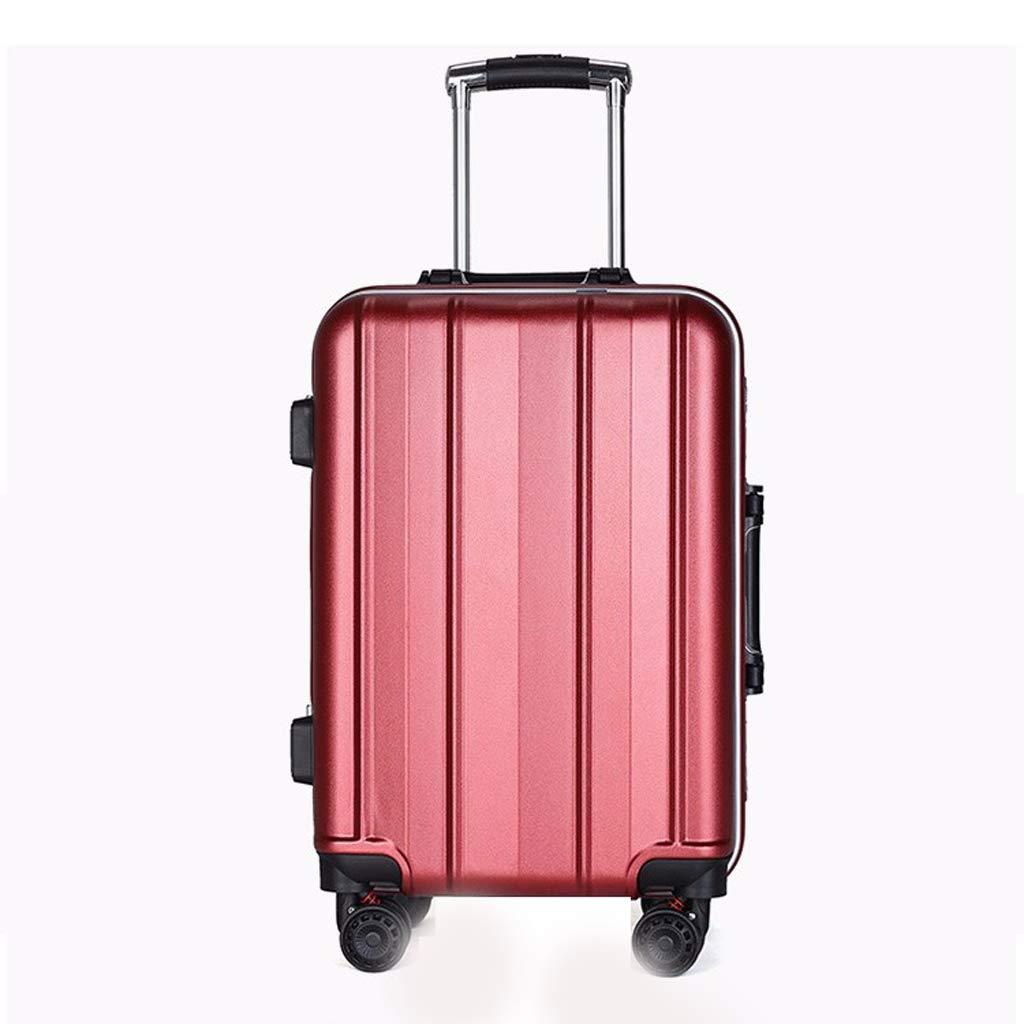 トロリーケースのアルミフレーム20inch / 24inchビジネス旅行の男性と女性は、耐摩耗性の高い荷物をご用意しています (色 : Red, サイズ さいず : 20inch) 20inch Red B07L8FM4MY