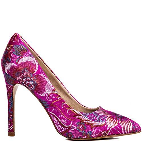 SPYLOVEBUY JOYCE Damen High Heel Stilettoabsatz Pumps Schuhe Pumps Rosa - Brocade