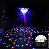 Lampe RGB Scène LED 20W Commande Sonore Spotlight Pour Disco DJ Soirée Bar KTV Pub Boule Crystal