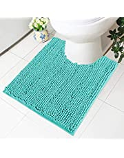 Olanly Luxury Chenille Striped Bath Mats, Extra Thick Bathroom Rugs Soft and Absorbent Shaggy Bath Rugs, Machine Washable Plush Rug Carpet for Living Room and Laundry Room