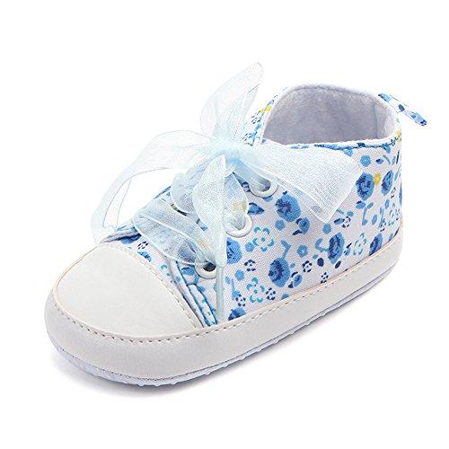 junlong Pretty rutschfest Baby Girl Shoes Riemchen Design Cute Schuhe (Zwei Farben) blue13