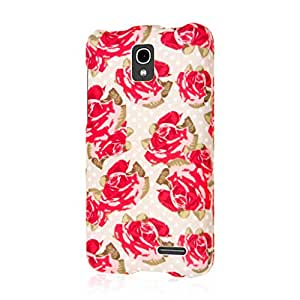MPERO SNAPZ Series Rubberized Case Carcasa for Alcatel ONETOUCH Pop Star LTE - Vintage Red Roses