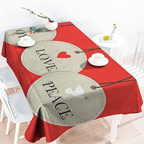 - familytaste Christmas,Table Cover Home Decoration Joy Love and Peace Words Pendants Merry Christmas Holiday Celebration Theme 50