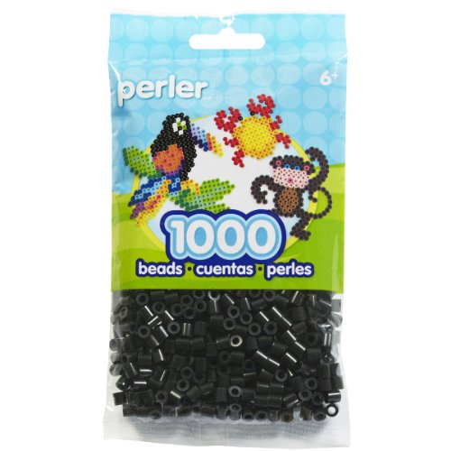 Perler Black Beads for Kids Crafts, 1000 pcs