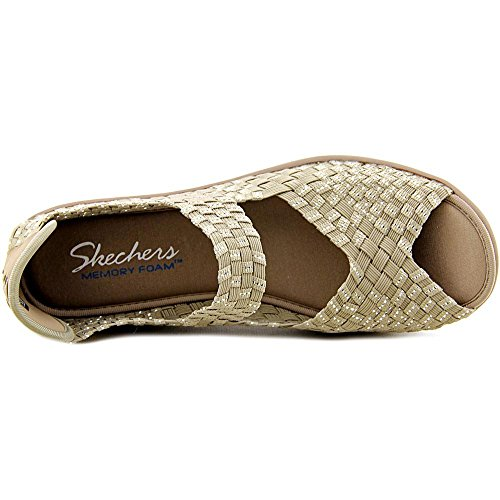 Skechers Parallel, Sandalias abiertas de material sintético, Mujer Taupe/Silver