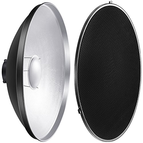 Neewer Photo Studio Strobe Flash Light Reflector Beauty Dish with Honeycomb Grid and Scrim, 21.6 inches/55 centimeters for Bowens Gemini Standard, R, RX Strobe and More by Neewer
