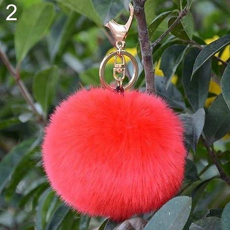 Amazon.com: Rarido Bluelans - Llavero de pelota de pelo ...
