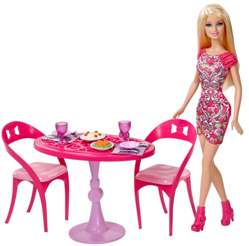 Barbie Dining Room Set: Barbie Doll And Dining Room Set