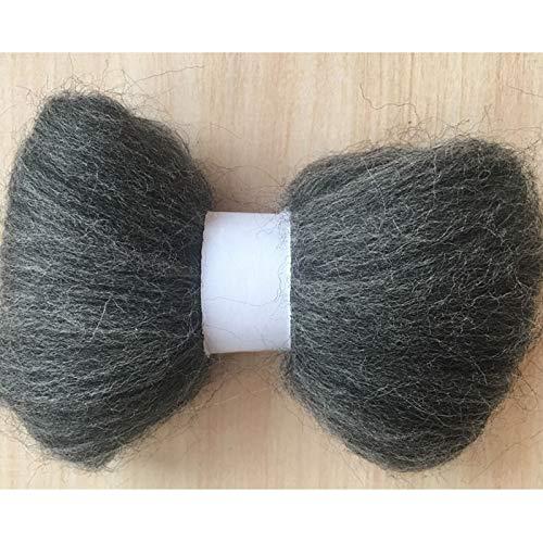 Maslin Merino Wool for Felting Wool roving Fiber 50G 100g 150g 200g 300g 500g Needle Felting - (Color: 300g)