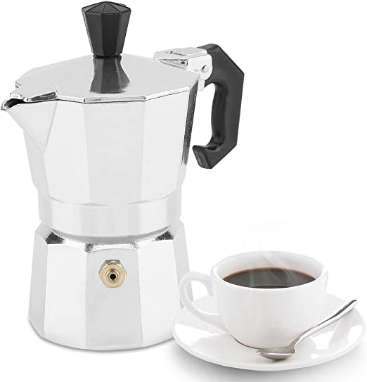 Zouminyy Cafetera espresso Moka Pot, 30 ml 1 taza Aluminio Tipo italiano Moka Pot Cafetera espresso Estufa Uso de la oficina en el hogar: Amazon.es: Hogar