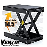Venom 1,100lb Motorcycle Center Jack Hoist Scissor Lift Stand Motorcycle Dirtbike ATV Motorcycle Center Jack Hoist Scissor Lift Stand